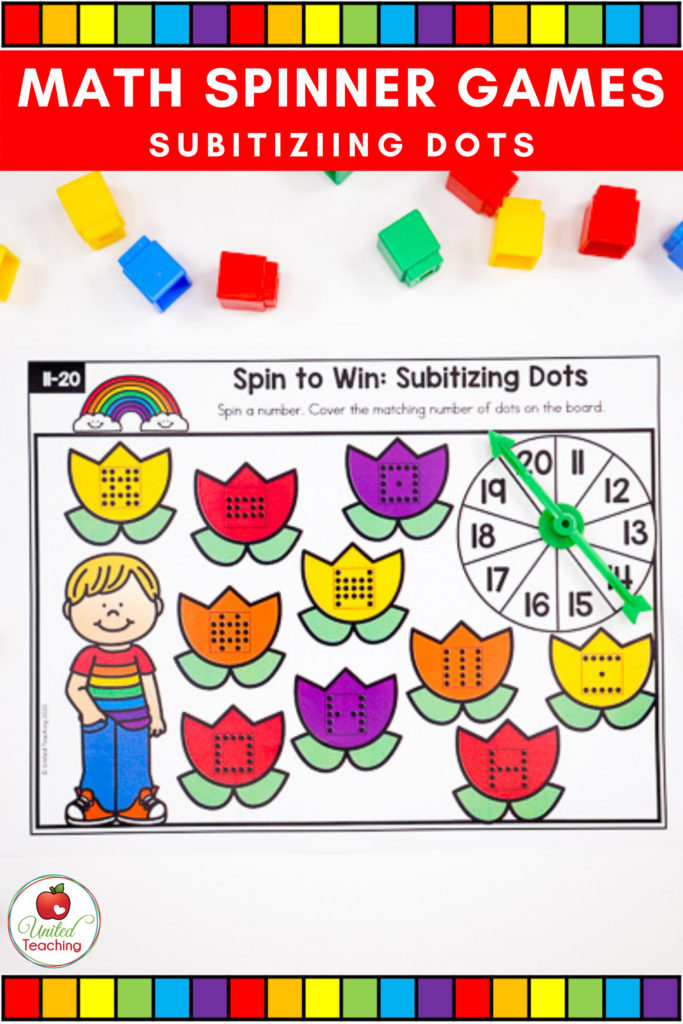 Math Spinner Games Subitizing Dots