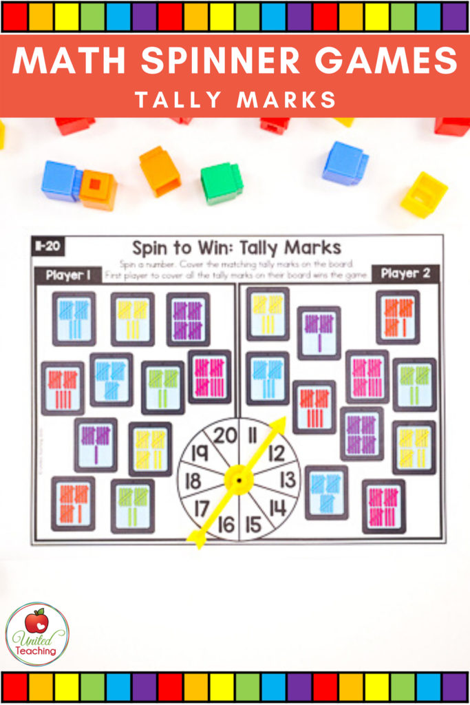 Math Spinner Games Tally Marks