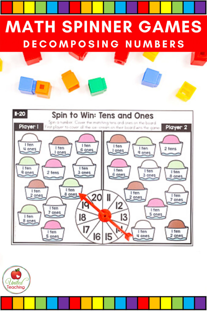 Math Spinner Games Tens and Ones