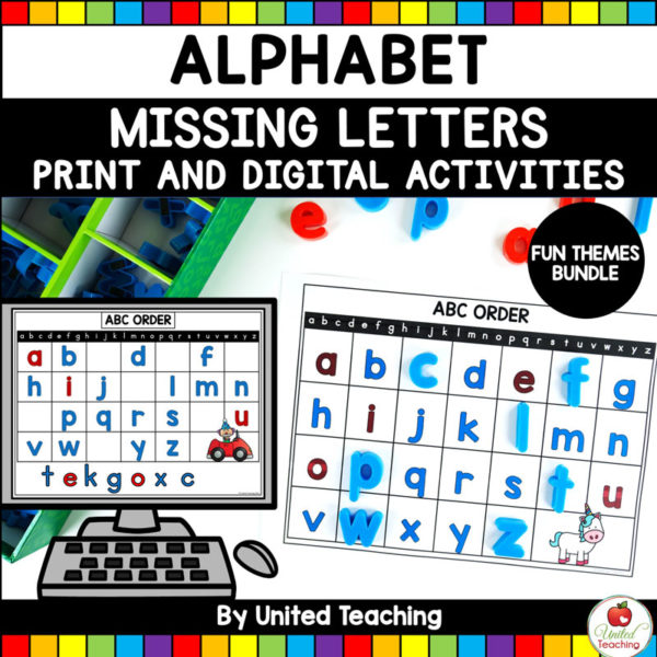 Alphabet Missing Letters Fun Themes