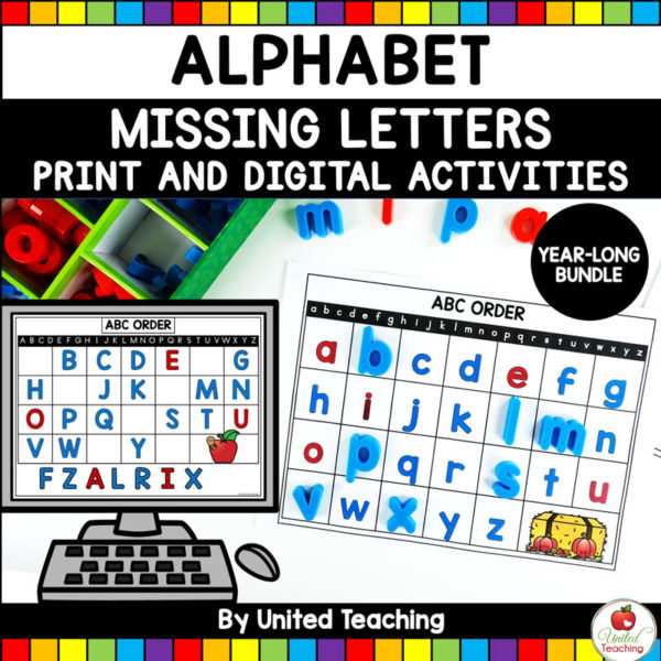 Alphabet Missing Letters Year-Long Theme