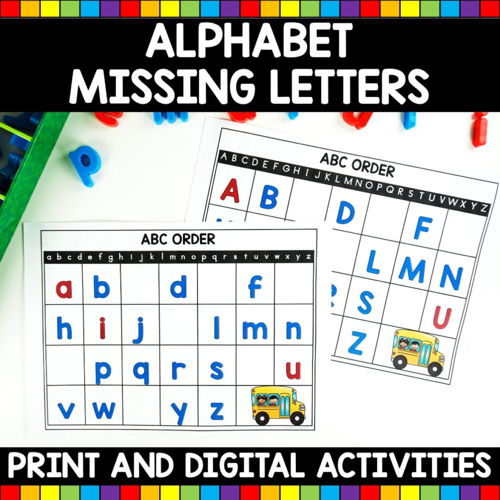 Alphabet Missing Letter Activities
