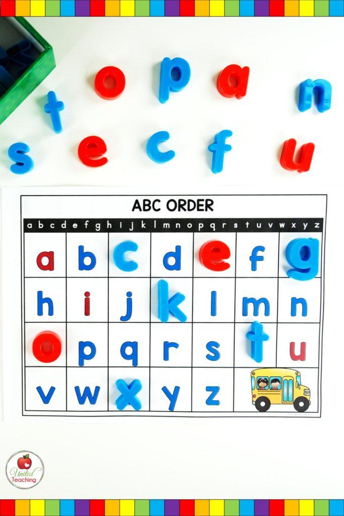Alphabet Missing Letter lowercase mat