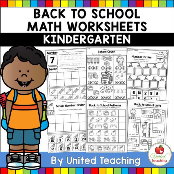 Back to School Math Kindergarten