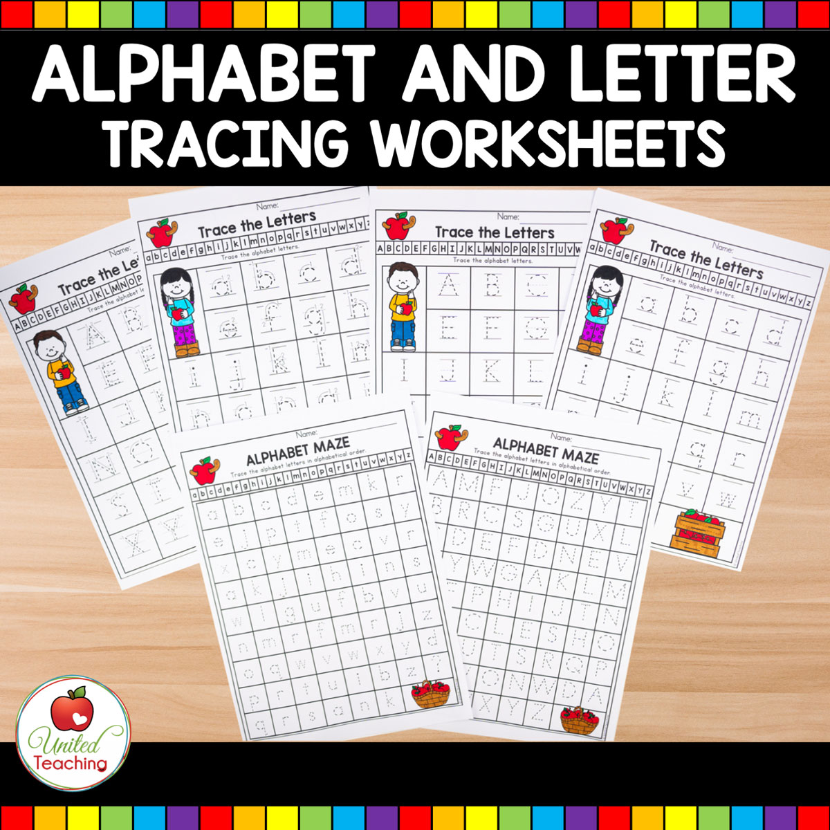 Letter Tracing Worksheets Main Image