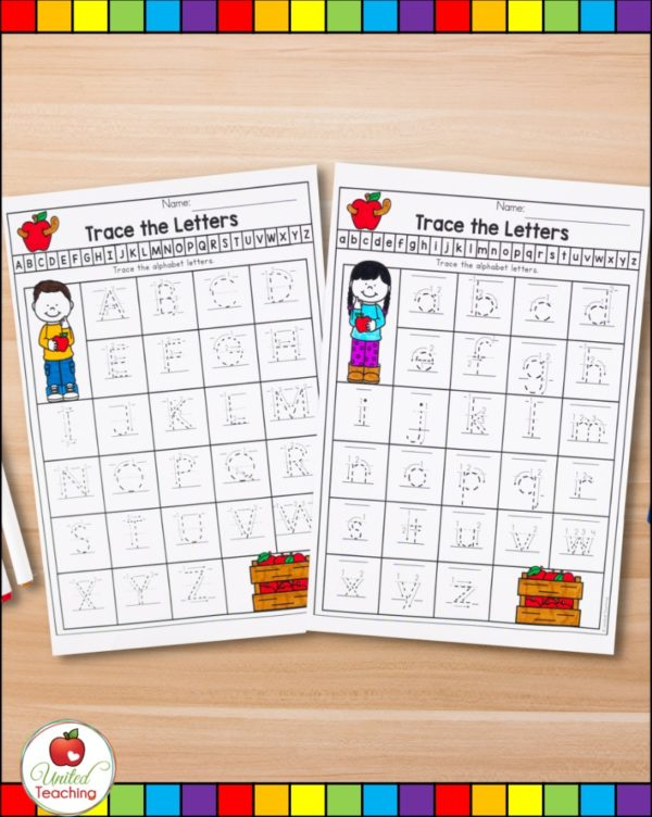 Letter tracing worksheets with letter formation