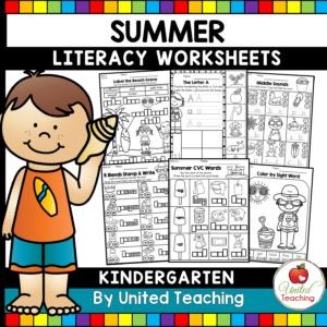 Summer Literacy Review for Kindergarten