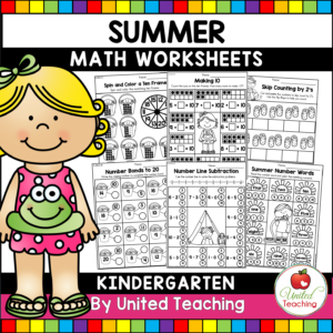Summer Math Review for Kindergarten Cover