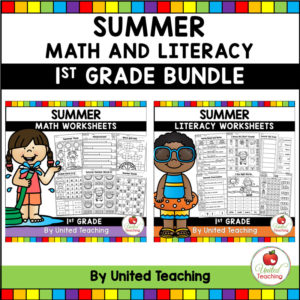 Summer Math and Literacy Review 1st Grade