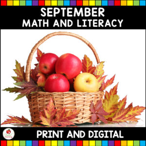 September Math and Literacy Activities for Kindergarten Cover