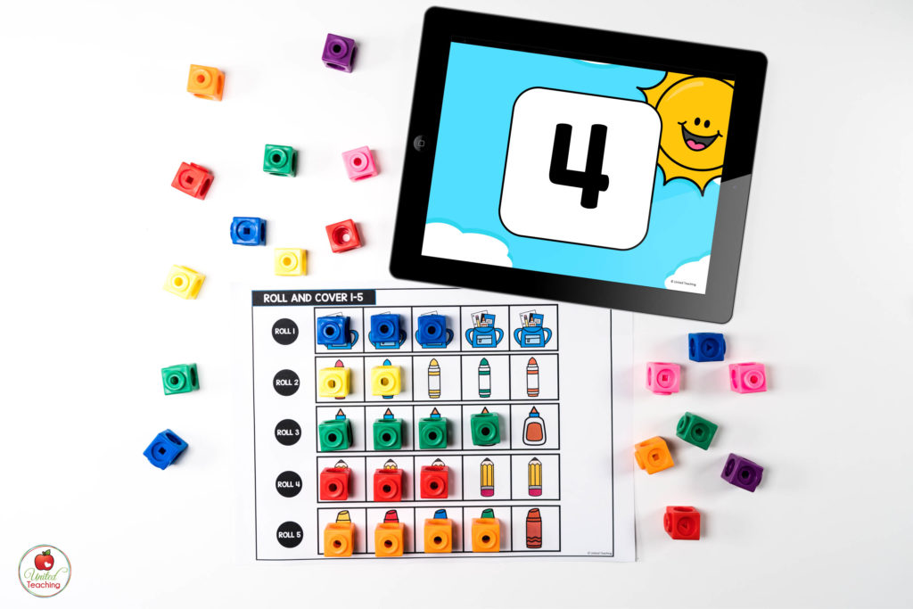 Counting Digital Dice Math Center