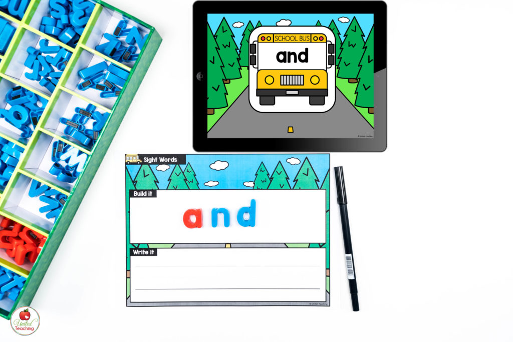 Sight Word Activity with Digital Dice