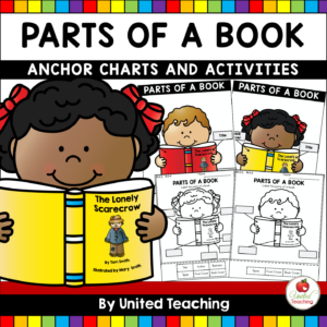 Parts of a Book Anchor Charts and Worksheets